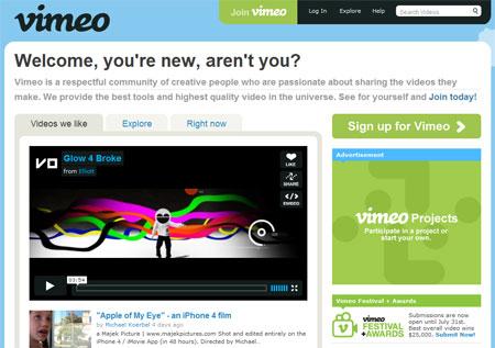 Vimeo, videos