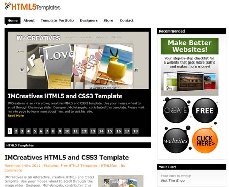 Free html5 templates