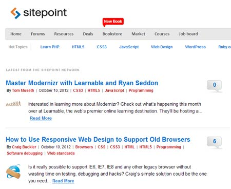 Site Point – desarrollo web
