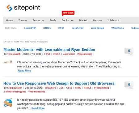 Site point - diseño web