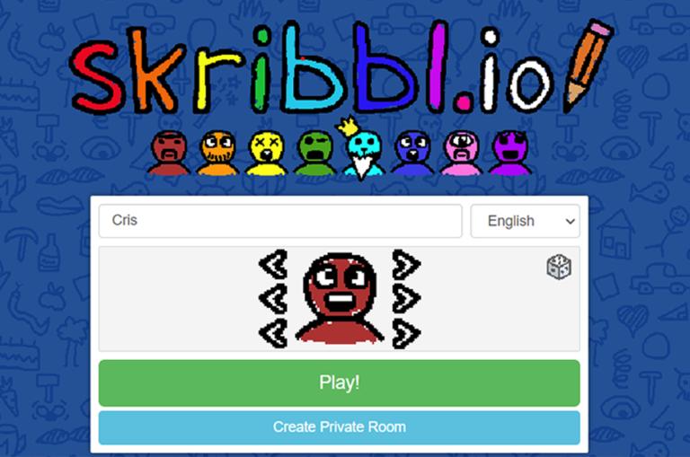 Jugar y dibujar las adivinanzas con Skribbl